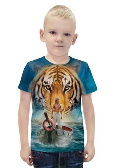 """Футболка с полной запечаткой для мальчиков """"Жизнь Пи"""" - природа, тигр, приключения, life of pi"""