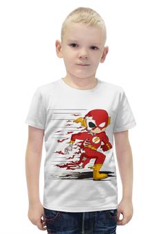 """Футболка с полной запечаткой для мальчиков """"Flash (The Flash)"""" - flash, молния"""