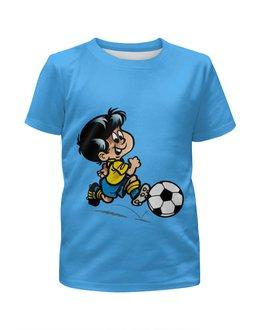 """Футболка с полной запечаткой для мальчиков """"Футбол"""" - футбол, спорт, футболист, мяч"""