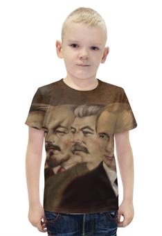 """Футболка с полной запечаткой для мальчиков """"Ленин, Сталин, Путин"""" - ссср, ленин, россия, путин, сталин"""