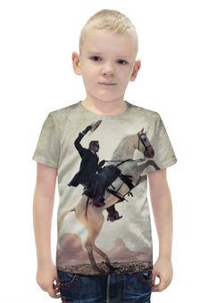 """Футболка с полной запечаткой для мальчиков """"Одинокий Рэйнджер"""" - лошадь, приключения, конь, lone ranger"""
