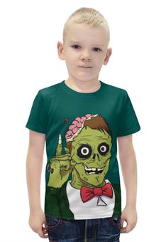 """Футболка с полной запечаткой для мальчиков """"Зомби хеллоуин"""" - череп, хэллоуин, зомби, монстр"""