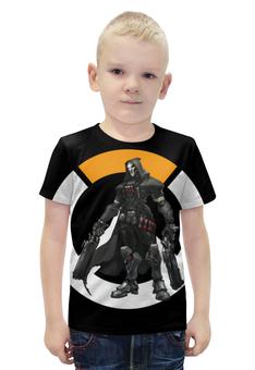 """Футболка с полной запечаткой для мальчиков """"Overwatch Reaper / Жнец Овервотч"""" - игры, overwatch, reaper, жнец, овервотч"""