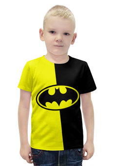 """Футболка с полной запечаткой для мальчиков """"Batman (Бэтмен)"""" - batman, бэтмен, супергерой, летучая мышь, брюс уэйн"""