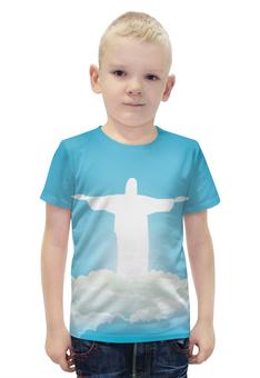 """Футболка с полной запечаткой для мальчиков """"Иисус Христос"""" - вера, религия, бог, иисус христос, отче"""