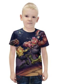 """Футболка с полной запечаткой для мальчиков """"battletoads"""" - игры, game, nintendo, battletoads, боевые жабы"""