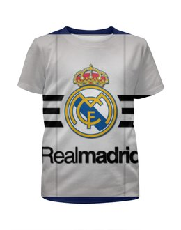"""Футболка с полной запечаткой для мальчиков """"Реал Мадрид"""" - real madrid, реал мадрид"""
