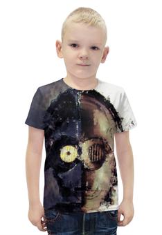 """Футболка с полной запечаткой для мальчиков """"C-3PO"""" - star wars, звездные войны, стар варс, р2д2д, ситрипио"""