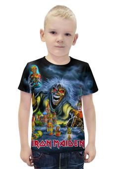 """Футболка с полной запечаткой для мальчиков """"Iron Maiden Band"""" - москва, heavy metal, iron maiden, хеви метал, eddy"""