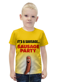 """Футболка с полной запечаткой для мальчиков """"SAUSAGE PARTY - Полный расколбас!"""" - сосиска, party, полный, sausage, расколбас"""