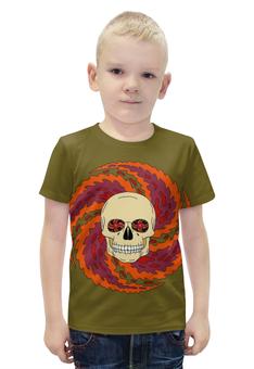 """Футболка с полной запечаткой для мальчиков """"Skull Art"""" - skull, череп, арт, рисунок, орнамент"""
