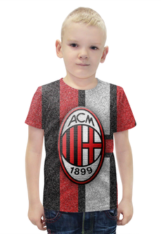 """Футболка с полной запечаткой для мальчиков """"Милан (Milan)"""" - милан, milan"""