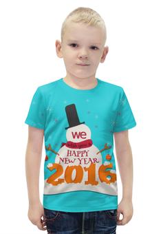 """Футболка с полной запечаткой для мальчиков """"Happy New Year"""" - праздник, новый год, 2016, события, денис гесс"""