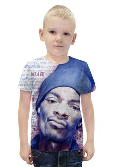 """Футболка с полной запечаткой для мальчиков """"Snoop Dogg"""" - музыка, рэп, снуп дог"""