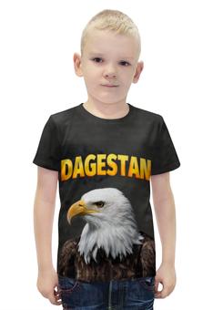 """Футболка с полной запечаткой для мальчиков """"Дагестан"""" - кавказ, орел, дагестан, даги"""