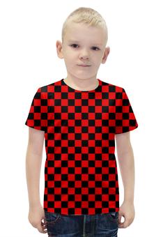 """Футболка с полной запечаткой для мальчиков """"ШАШЕЧКА"""" - арт, абстракция, кубы, шашка"""