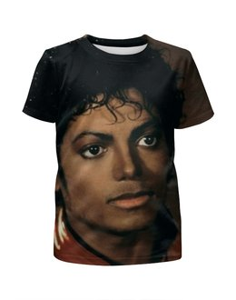 """Футболка с полной запечаткой для мальчиков """"Майкл Джексон"""" - майкл джексон, michael jackson, попкультура"""