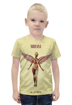 """Футболка с полной запечаткой для мальчиков """"Nirvana In Utero"""" - nirvana"""