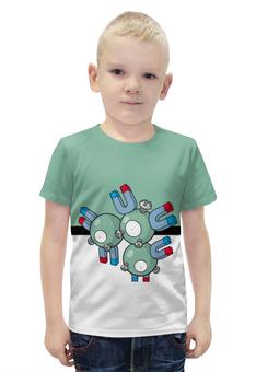 """Футболка с полной запечаткой для мальчиков """"PoKeMon Magneton"""" - pokemon, покемон, магнетон, magneton"""