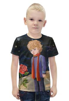 """Футболка с полной запечаткой для мальчиков """"Маленький принц"""" - роза, маленький принц, экзюпери"""