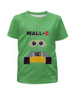 """Футболка с полной запечаткой для мальчиков """"WALL-E"""" - мультик, робот, валли"""