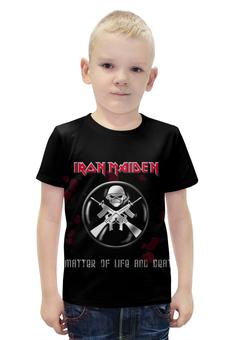 """Футболка с полной запечаткой для мальчиков """"Iron Maiden Band"""" - heavy metal, рок группа, iron maiden, хеви метал, eddy"""