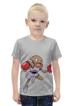 """Футболка с полной запечаткой для мальчиков """"Хитмончан"""" - нинтендо, pokemon go, покемон го, хитмонли, hitmonchan"""