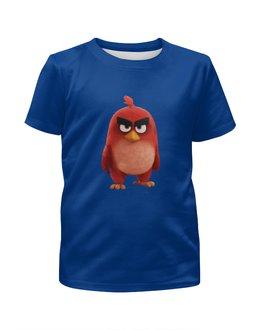 """Футболка с полной запечаткой для мальчиков """"Angry Birds"""" - red, angry birds, злые птицы, энгри бердз, ред"""