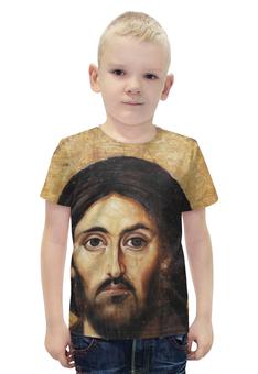 """Футболка с полной запечаткой для мальчиков """"Сын господа"""" - вера, религия, иисус, бог, сын божий"""