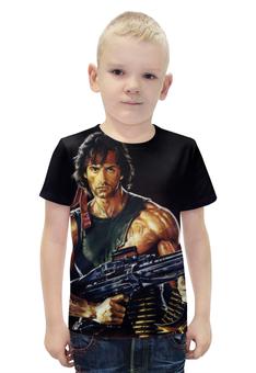 """Футболка с полной запечаткой для мальчиков """"Рэмбо (Rambo)"""" - сталлоне, рэмбо, rambo"""