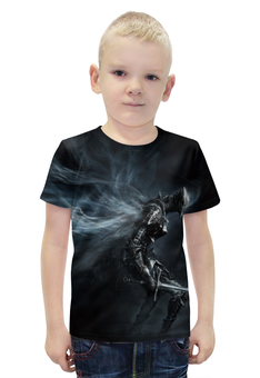 """Футболка с полной запечаткой для мальчиков """"Dark Souls 3"""" - фэнтези, фанату, dark souls, мир игр, рисунок из игр"""