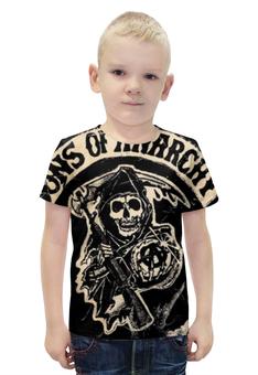 """Футболка с полной запечаткой для мальчиков """"Сыны анархии (Sons of Anarchy)"""" - sons of anarchy, сыны анархии"""