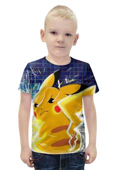 """Футболка с полной запечаткой для мальчиков """"Покемон / Pokemon"""" - игры, рисунок, покемон"""