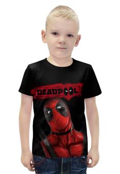 """Футболка с полной запечаткой для мальчиков """"Дэдпул"""" - marvel, deadpool, марвел, дэдпул"""