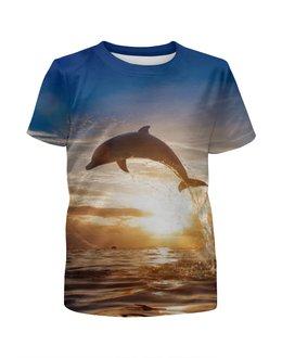 """Футболка с полной запечаткой для мальчиков """"Дельфин"""" - природа, фотография, дельфин"""
