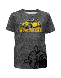 """Футболка с полной запечаткой для мальчиков """"Бамблби"""" - фантастика, автомобиль, роботы, трансформеры, бамблби"""