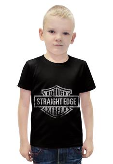 """Футболка с полной запечаткой для мальчиков """"Streight edge"""" - sxe, streight edge"""