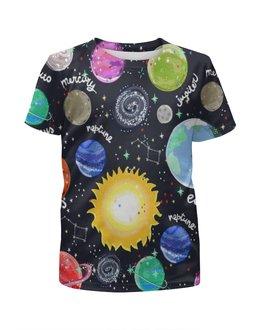 """Футболка с полной запечаткой для мальчиков """"Планеты"""" - звезды, космос, планеты, созвездия, галактика"""