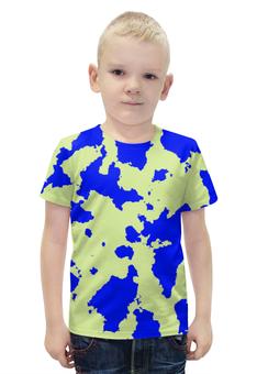 """Футболка с полной запечаткой для мальчиков """"Сине-Зелёный Камуфляж"""" - армия, камуфляж, camouflage, военный, сине зелёный камуфляж"""