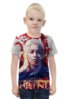 """Футболка с полной запечаткой для мальчиков """"Игра престолов / Game of Thrones"""" - сериалы, рисунок, кино, игра престолов"""