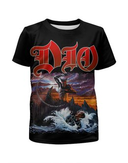 "Футболка с полной запечаткой для мальчиков ""Ronnie James Dio"" - dio, heavy metal, hard rock, рок музыка, ronnie james dio"