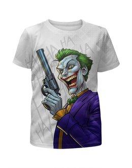 """Футболка с полной запечаткой для мальчиков """"The Joker GUN"""" - пистолет, джокер, сыну, киноманам, любителям комиксов"""