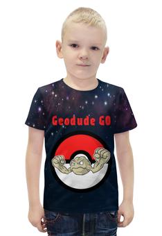 """Футболка с полной запечаткой для мальчиков """"Покемон Джеодуд """" - pokemon, покемон, джеодуд, geodude, каменный"""