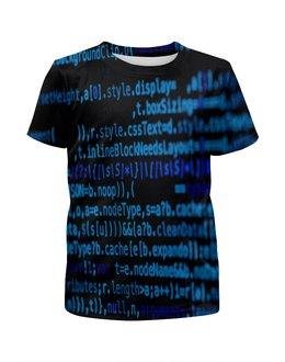 """Футболка с полной запечаткой для мальчиков """"Программа"""" - компьютеры, код, программа, пароль, кодировка"""