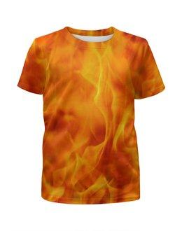 """Футболка с полной запечаткой для мальчиков """"FIRE ON FIRE"""" - арт, стиль, дизайн, фотография"""