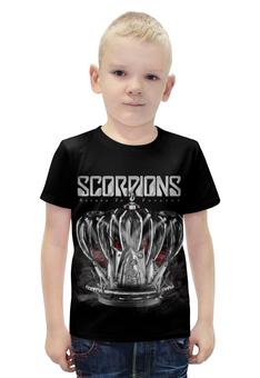 """Футболка с полной запечаткой для мальчиков """"Scorpions Band"""" - heavy metal, hard rock, scorpions, скорпионс, хеви метал"""