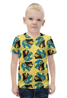"""Футболка с полной запечаткой для мальчиков """"слоны """" - инди, авторский дизайн, слоны"""