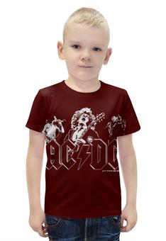 """Футболка с полной запечаткой для мальчиков """"AC/DC Band"""" - heavy metal, hard rock, ac dc, эйси диси, хеви метал"""