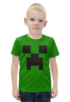 """Футболка с полной запечаткой для мальчиков """"Minecraft"""" - игры, minecraft, майнкрафт, по играм, футболки по играм"""