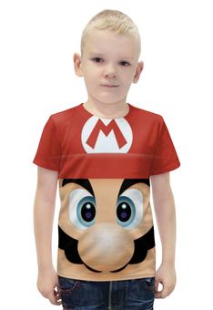 """Футболка с полной запечаткой для мальчиков """"Марио 3d"""" - mario, марио"""